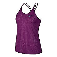 Womens Nike Dri-FIT Cool Breeze Strappy Tank Sleeveless & Tank Technical Tops - Cosmic Purple XL