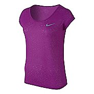 Womens Nike Dri-Fit Cool Breeze Short Sleeve Technical Tops - Cosmic Purple L