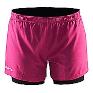 Womens Craft Focus2-in-1 Shorts - Line Smoothie/Black S