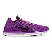 Womens Nike Free RN Flyknit Running Shoe - Violet 10.5