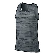 Mens Nike Dri-Fit Cool Tailwind Stripe Sleeveless & Tank Technical Tops