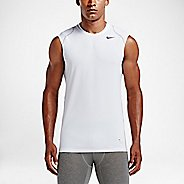 Mens Nike Hypercool Fitted Sleeveless & Tank Technical Tops - White S