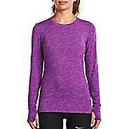 Womens Saucony Daybreak Long Sleeve Technical Tops - Dahlia L
