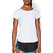 Womens Under Armour Fly By Short Sleeve Technical Tops