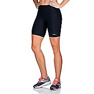 Womens Saucony Scoot Tight Unlined Shorts - Black/Black XL
