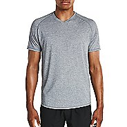 Mens Saucony Freedom V-Neck Sleeveless & Tank Tops Technical Tops - Dark Grey Heather M