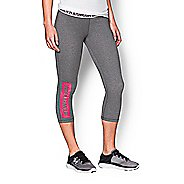 Womens Under Armour Favorite Capris Pants - Heather/Red XS