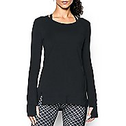 Womens Under Armour Studio Oversized Long Sleeve Non-Technical Tops