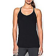 Womens Under Armour T-Back Sleeveless & Tank Technical Tops - Black S