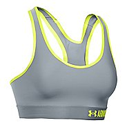 Womens Under Armour Mid Sports Bras - Steel/X-Ray S