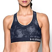 Womens Under Armour Printed Mid Sports Bras - Midnight Navy XS