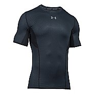 Mens Under Armour HeatGear CoolSwitch Compression Short Sleeve Technical Tops - Stealth ...