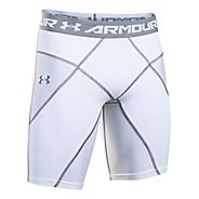 Mens Under Armour HeatGear Core Compression & Fitted Shorts - White/White M