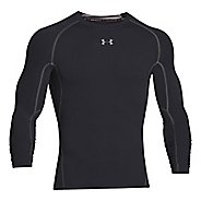 Mens Under Armour HeatGear Long Sleeve Technical Tops - Black/Steel XXL-T
