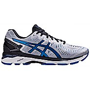 Mens ASICS GEL-Kayano 23 Running Shoe - Silver/Blue 7.5