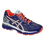 Womens ASICS GEL-Kayano 23 Lite-Show Running Shoe - Blue/Coral 6.5