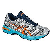 Kids ASICS GT-1000 5 Running Shoe - Grey/Orange 1Y