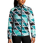 Womens Brooks LSD Jacket Running Jackets - Ocean Wave/Black S