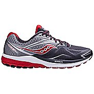 Mens Saucony Ride 9 Running Shoe - Grey/Red 8.5