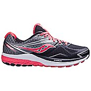 Womens Saucony Ride 9 Running Shoe - Grey/Coral 11