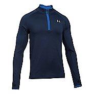 Mens Under Armour No Breaks 1/4 Zip Half-Zips & Hoodies Technical Tops - Midnight Navy/Blue L