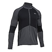 Mens Under Armour No Breaks CGI Running Jackets - Carbon Heather/Black XL