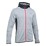Mens Under Armour Swacket Fullzip Hoodie Casual Jackets - Steel/Stealth Grey L