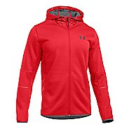 Mens Under Armour Swacket Fullzip Hoodie Casual Jackets - Red/Graphite L