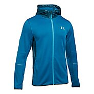 Mens Under Armour Swacket Fullzip Hoodie Casual Jackets - Cruise Blue/True Ink XXL