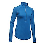 Womens Under Armour Layered Up Half-Zips & Hoodies Technical Tops - Mediterranean XL