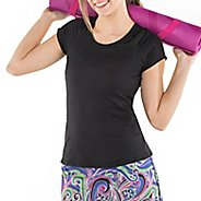 Womens Skirt Sports Circuit Tee Short Sleeve Technical Tops - Black L