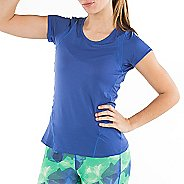 Womens Skirt Sports Circuit Tee Short Sleeve Technical Tops - Marine XS