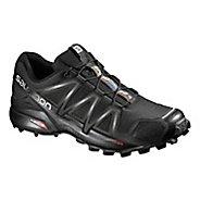 Mens Salomon Speedcross 4 Trail Running Shoe - Black/Black 8