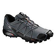 Mens Salomon Speedcross 4 Trail Running Shoe - Grey/Black 10.5