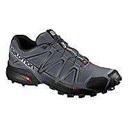 Mens Salomon Speedcross 4 Trail Running Shoe - Black Grey 10.5