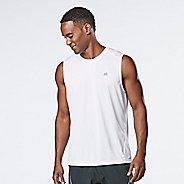 Mens R-Gear Runner's High Printed Sleeveless & Tank Technical Tops - White XL