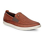 Mens Ecco Collin Perf Slip-On Casual Shoe - Cognac 45