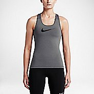 Womens Nike Pro Cool Sleeveless & Tank Technical Tops - Dark Grey L