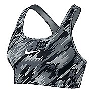 Womens Nike Pro Classic Overdrive Sports Bra - Black/White XL