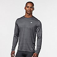 Mens R-Gear Runner's High Printed Long Sleeve Technical Tops - Steel/Black XL