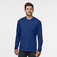 Mens Road Runner Sports Perfect Run Long Sleeve Technical Tops - Cobalt/Black S