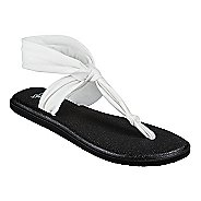 Womens Sanuk Yoga Sling Ella Sandals Shoe - White 9