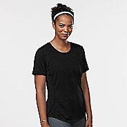 Womens Road Runner Sports Fast and Fab Short Sleeve Technical Tops - Black M