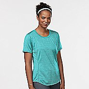 Womens Road Runner Sports Fast and Fab Short Sleeve Technical Tops - Oasis XS