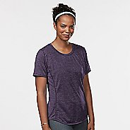 Womens Road Runner Sports Fast and Fab Short Sleeve Technical Tops - Let's Jam XS