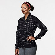 Womens R-Gear Runway Bomber Casual Jackets - Black/Dove Grey Dot M