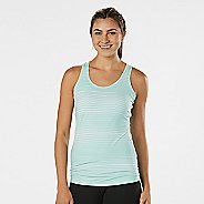 Womens R-Gear Revive Printed Racerback Sleeveless & Tank Technical Tops - Sea Glass Stripe M