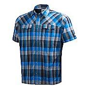 Mens Helly Hansen Jotun Shirt Short Sleeve Non-Technical Tops - Racer Blue XXL