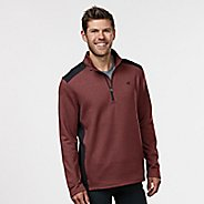 Mens R-Gear Heat Seeker Long Sleeve Half Zip Technical Tops - Heather Red Zone M