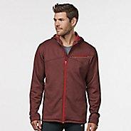 Mens R-Gear Heat Seeker Hooded Fleece Hoodie & Sweatshirts Technical Tops - Heather Red Zone XXL